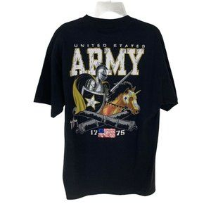 Guy Harvey ARMY Collegiate T Shirt Black NWT Size large